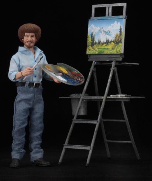 Neca The Joy of Painting Bob Ross Figure