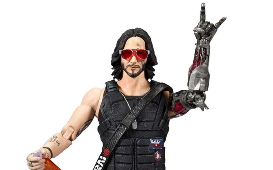 Keanu Reeves Mcfarlane toys cyberpunk 2077 action figure