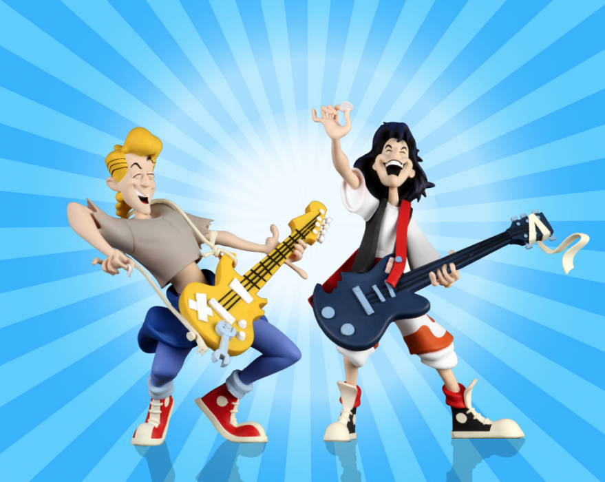 """Bill and Ted's Excellent Adventure – 6"""" Scale Action Figure – Toony Classics Bill and Ted 2 Pack"""