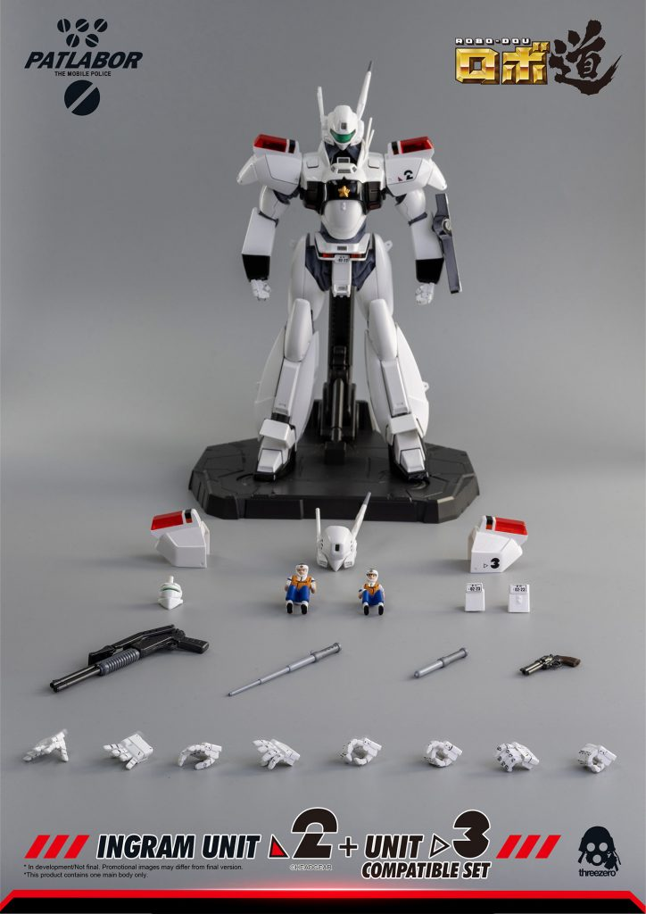 Mobile Police Patlabor ROBO-DOU Ingram Unit 2 + Unit 3 Compatible Set
