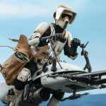 The Mandalorian TMS017 Scout Trooper 1/6 Scale Collectible Figure With Speeder Bike