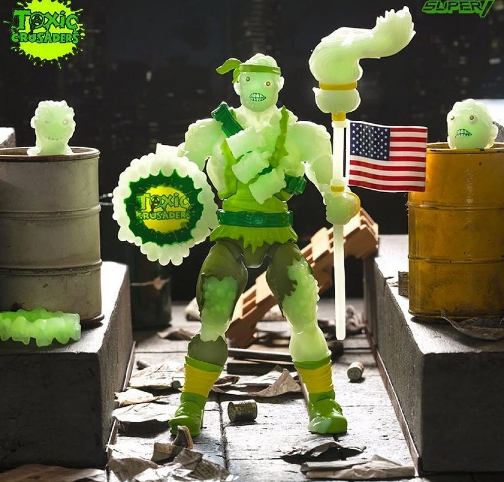 Toxic Crusader Glow in the dark toxic action figure super7