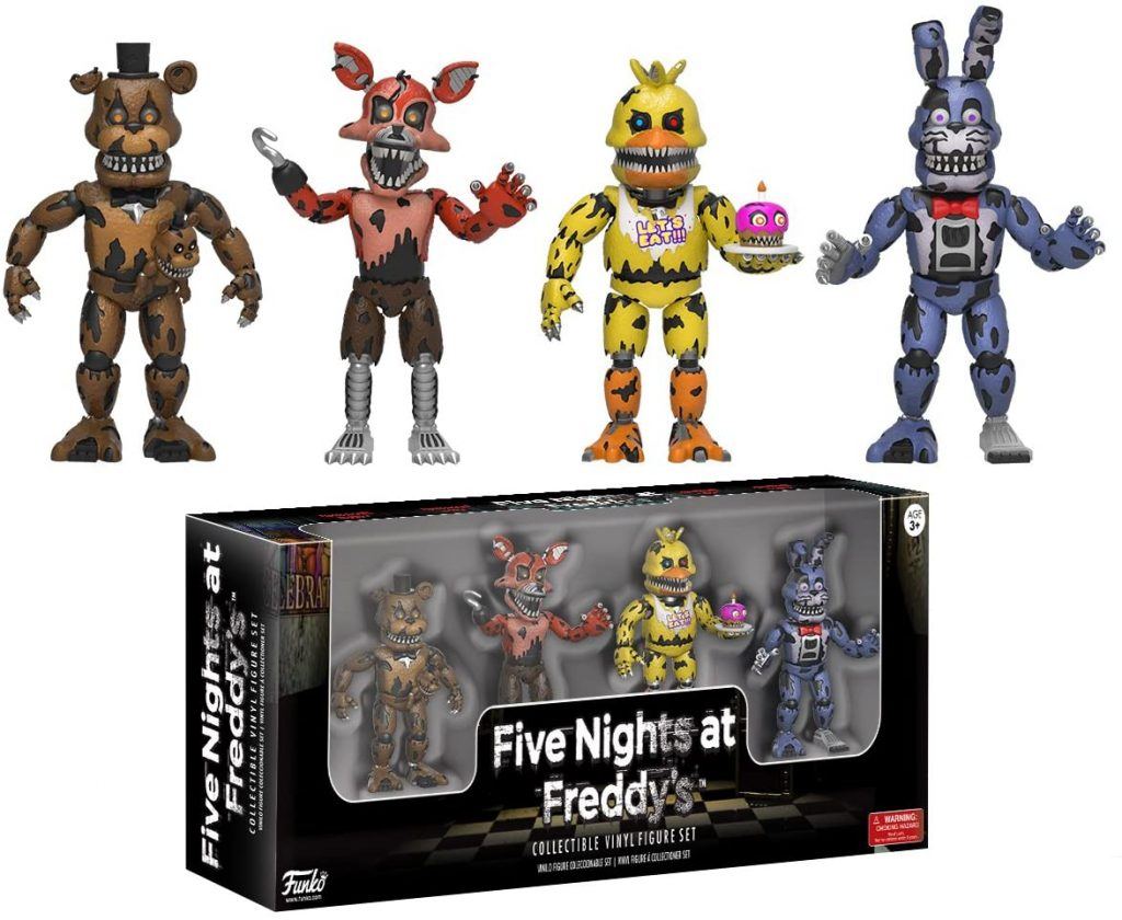 Funko Five Nights at Freddy's Nightmare Edition 4 Action Figure Pack (Set 3)