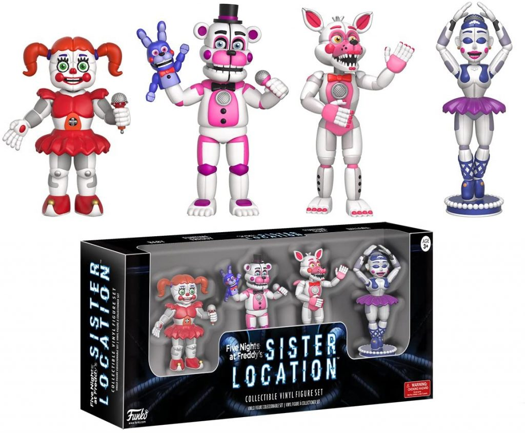 Funko Five Nights at Freddy's Sister Location 4 Action Figure Pack (Set 1)