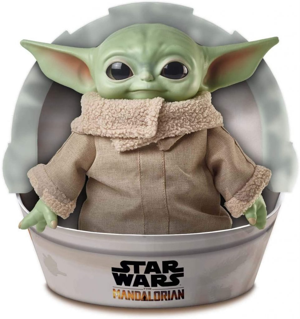 Mattel Star Wars: The Mandalorian The Child Plush Toy, 11-inch Yoda Figure