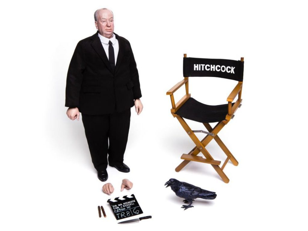 Alfred HItchcock figure for sale by Mondo