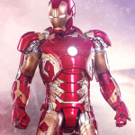 an Iron Man Mark XLIII Sixth Scale Action Figure by Hot Toys