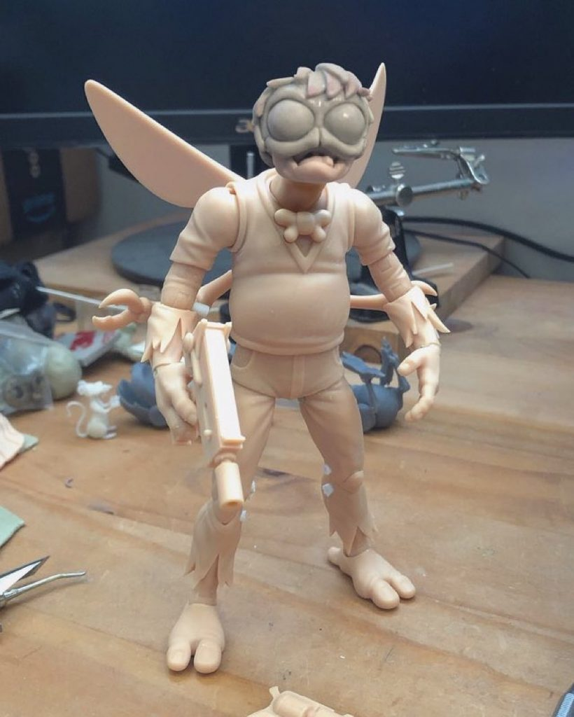 Baxter Action Figure Prototype NECA