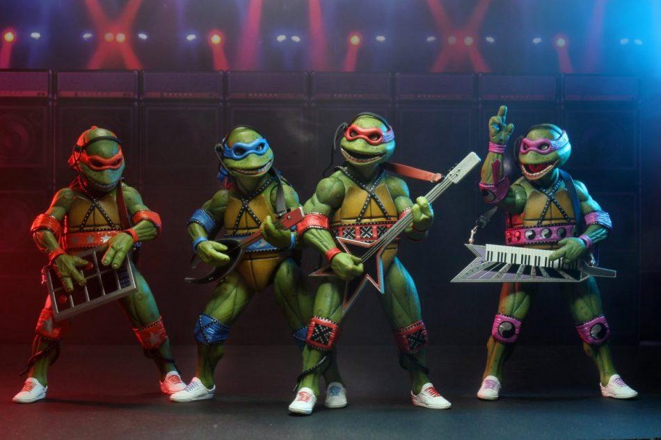 NECA Teenage Mutant Ninja Turtles TMNT Musical Mutagen Tour 4 Pack (SDCC 2020)