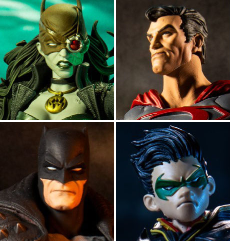 he McFarlane Toys DC Multiverse Robin, The Drowned, Red Sun Superman, and Death Metal Batman