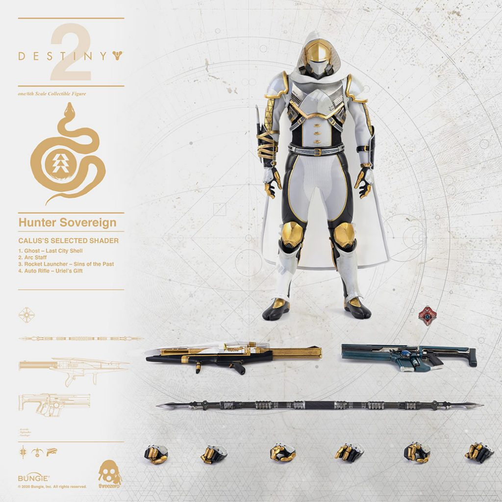 Destiny 2 Hunter Sovereign calus's shader figure