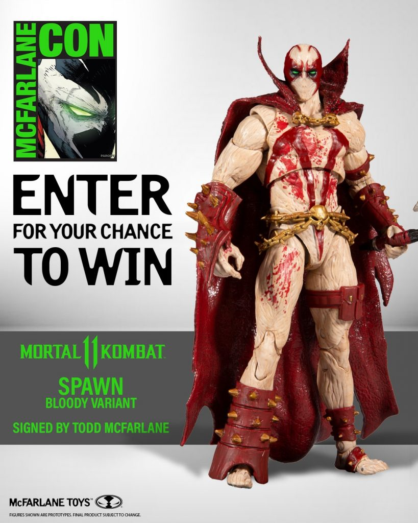 Enter To Win Mortal Kombat Spawn (Blood Feud Hunter skin) Action Figure! - Signed by Todd McFarlane!