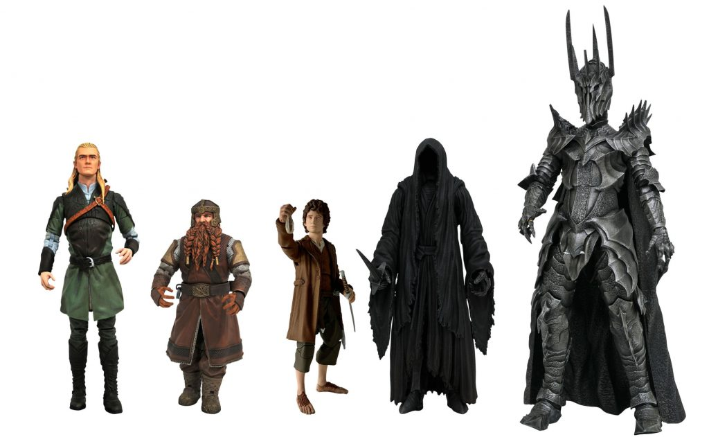 Lord of the Rings Frodo Baggons and Nazgul Figures Series 2
