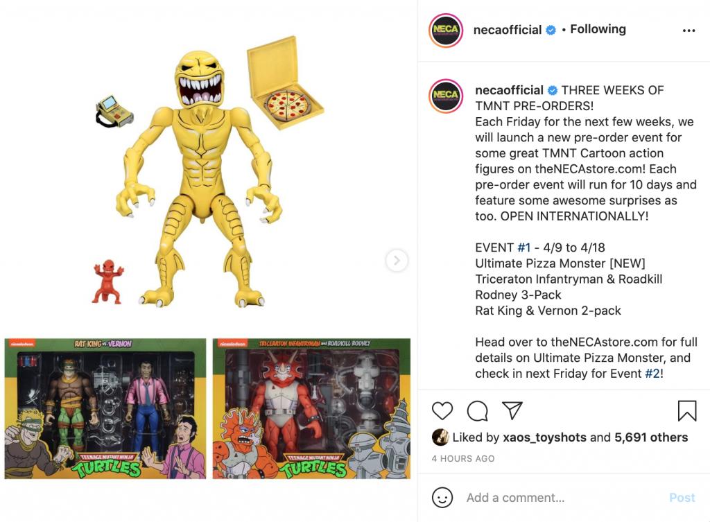 New Teenage Mutant Ninja Turtles NECA Pizza Monster Figure Available