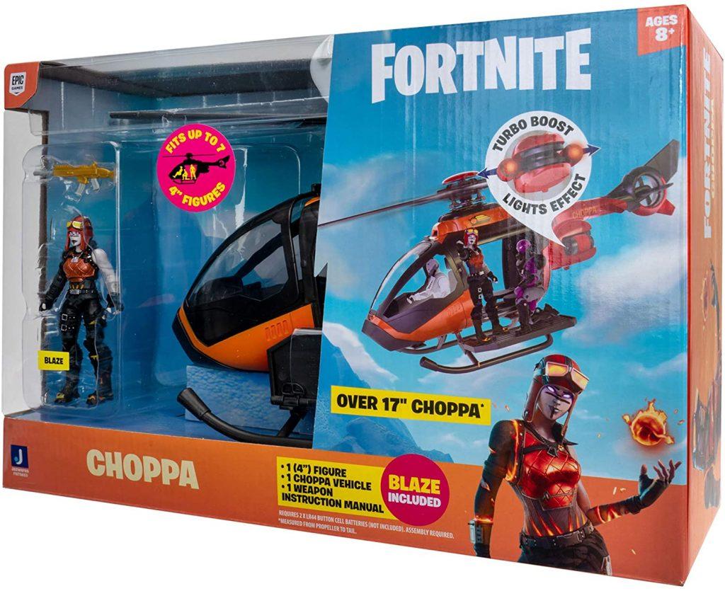 Fortnite Choppa Vehicle and Blaze by Jazwares