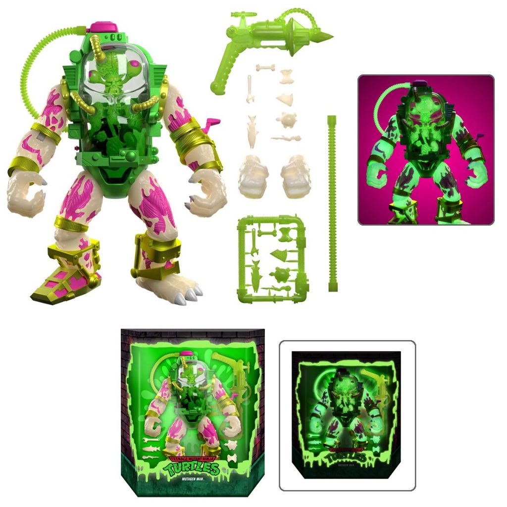 Super7 Glow-In-The-Dark Mutagen Man Figure