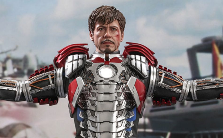 Tony Stark (Mark V Suit up Version) Sixth Scale Collectible Figure.