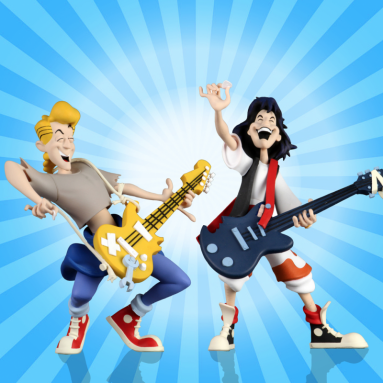 """NECA's Toy Fair 2020 Reveal of the Bill and Ted's Excellent Adventure 6"""" Scale Action Figure – Toony Classics 2 Pack Pre-Order"""