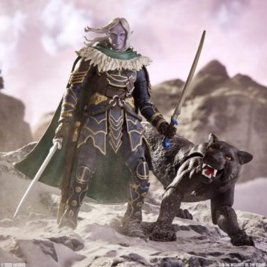 Dungeons & Dragons Forgotten Realms Drizzt & Guenhwyvar Action Figure (Hasbro PulseCon)