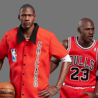 NBA Real Masterpiece Michael Jordan (Away) 1/6 Scale Final Limited Edition Figure Ft. 14 Pairs of Jordan Sneakers!