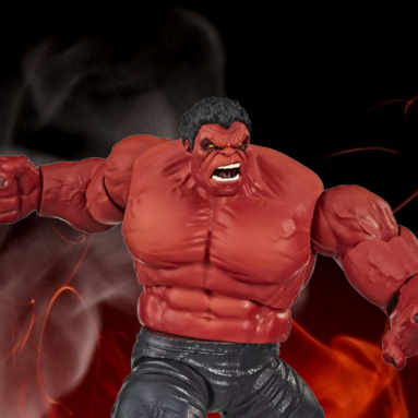 The New Target Exclusive Marvel Legends Red Hulk Deluxe Action Figure from Hasbro A Must-Have!