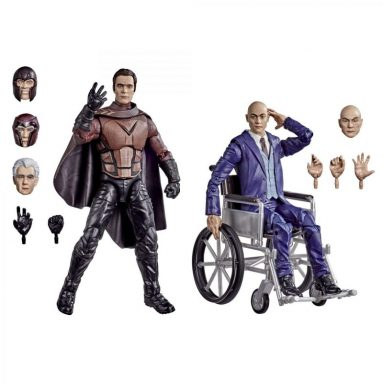 Marvel Legends Series Magneto and Professor X Action Figures by Hasbro (20th Anniversary)
