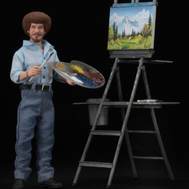 NECA Releases 8″ The Joy of Painting Bob Ross Action Figure