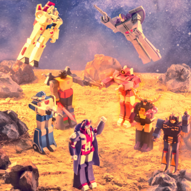 Super7 Transformers ReAction Figures Recruit Shockwave, Alpha Trion, Mirage, and Astrotrain for Wave 2 (Set of 4)