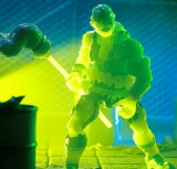 Toxic Crusaders Glow in the Dark Toxie Deluxe Action Figure by Super7 an Entertainment Earth Exclusive