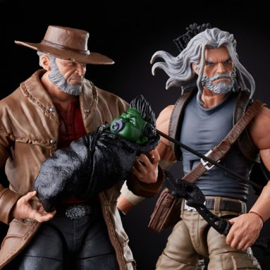 X-Men 20th-Anniversary Marvel Legends Old Man Logan & Hawkeye by Hasbro
