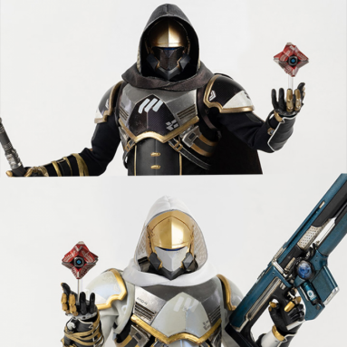 Destiny 2 Hunter Sovereign Figures (Golden Trace Shader & Calus's Selected Shader) By   Threezero