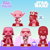 Star Wars Valentines POP! Vinyls by Funko Ft. Yoda, Chewbacca, Darth Vader, and Stormtrooper