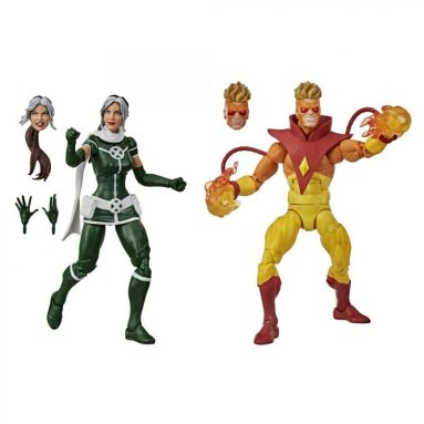Marvel Legends Series Rogue and Pyro Action Figures by Hasbro