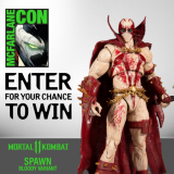 Enter To Win: Mortal Kombat Spawn (Blood Feud Hunter skin) Action Figure Signed by Todd McFarlane