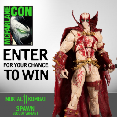 Enter To Win: Mortal Kombat Spawn (Blood Feud Hunter skin) Action Figure Signed by Todd McFarlane